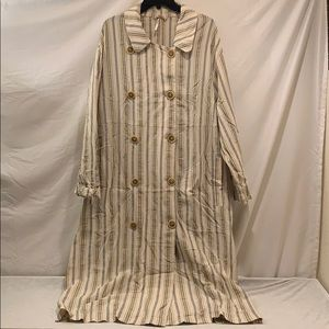 Free People Natural Stripe Dress Medium
